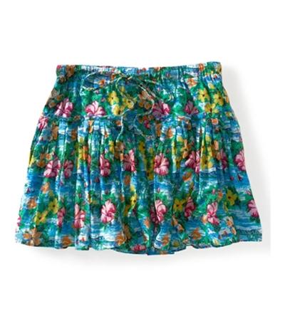 Aeropostale Womens Lined Pleated Floral Mini Skirt