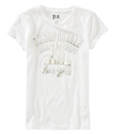 Aeropostale Girls Foil Ps Athl. Dept. Embellished T-Shirt