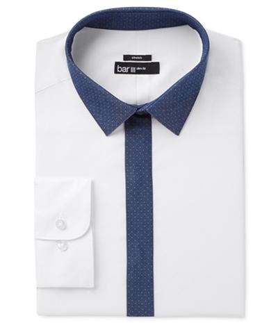 Bar Iii Mens Contrast Button Up Dress Shirt