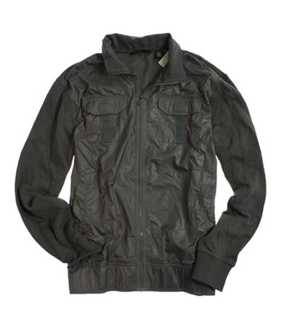 Sean John Mens Full Zip Knit Back Field Jacket
