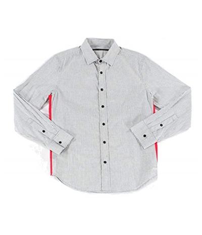 Sean John Mens Side Detail Button Up Shirt