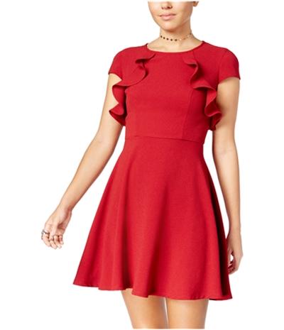 Bee Darlin Womens Ruffled A-Line Dress