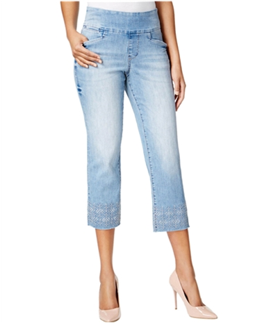 Jag Womens Embroidered Cropped Jeans