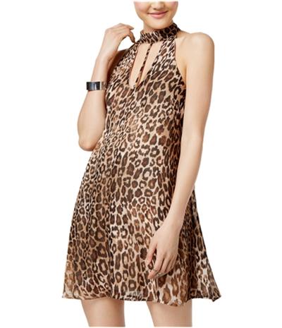 Speechless Womens Leopard Shift Dress
