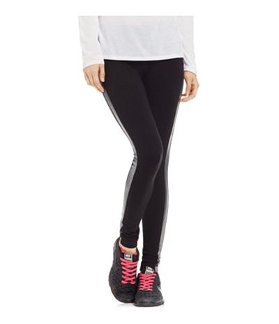 Material Girl Womens Foil Tuxedo-Stripe Yoga Pants