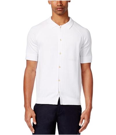 Sean John Mens Textured Ss Button Up Shirt