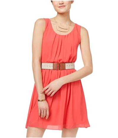 Bcx Womens Pleated A-Line Dress