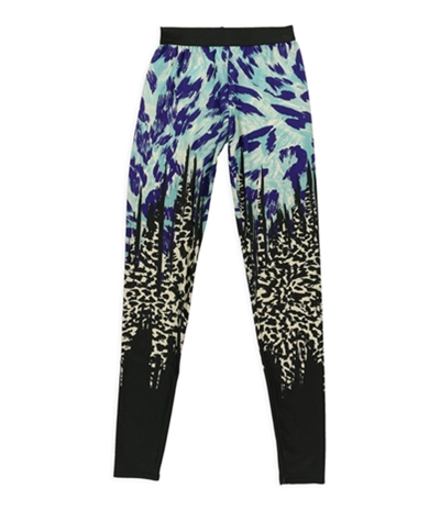 Petticoat Alley Womens Animal Printed Athletic Track Pants