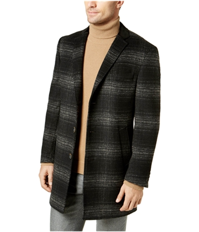 Tallia Mens Plaid Coat