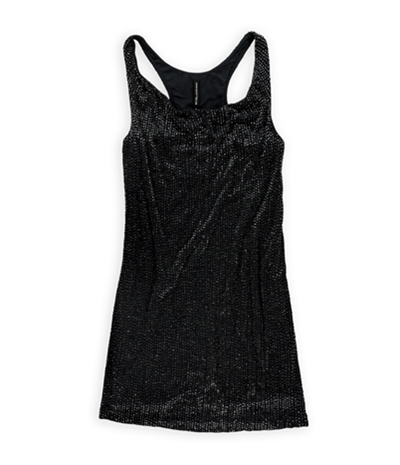 W118 Womens Crystal Beaded Tank Dress