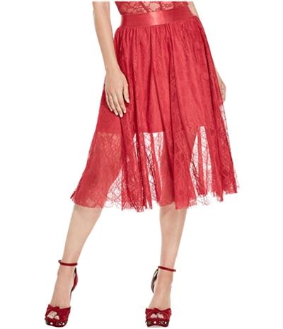 Guess Womens Selena Lace Midi Skirt