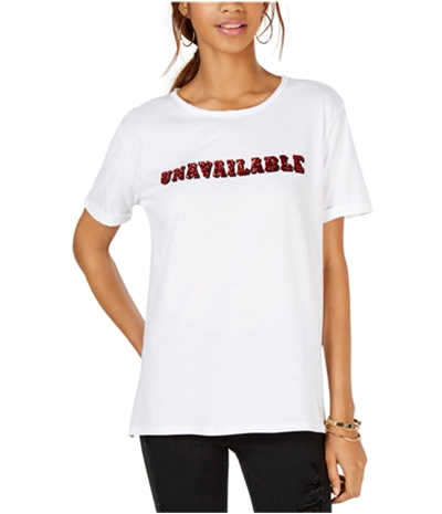 Carbon Copy Womens Unavailable Embellished T-Shirt