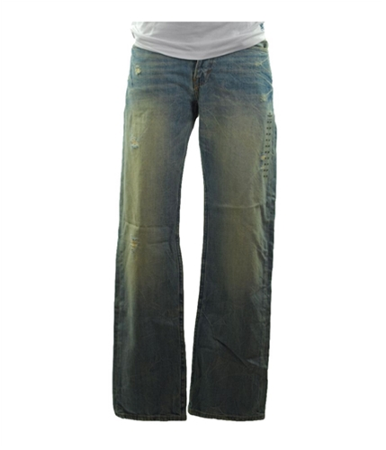 American Eagle Outfitters Mens Distressed Relaxed Jeans destroyedcrackle 26x28