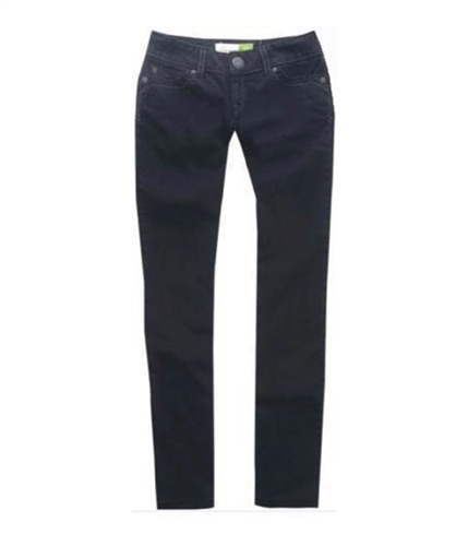 Aeropostale Womens Bayla Denim Skinny Fit Jeans black 1/2x32