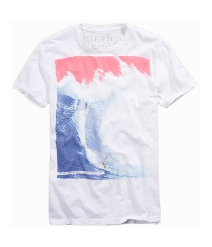 American Eagle Outfitters Mens Vintage Fit Surf Graphic T-Shirt white 2XL