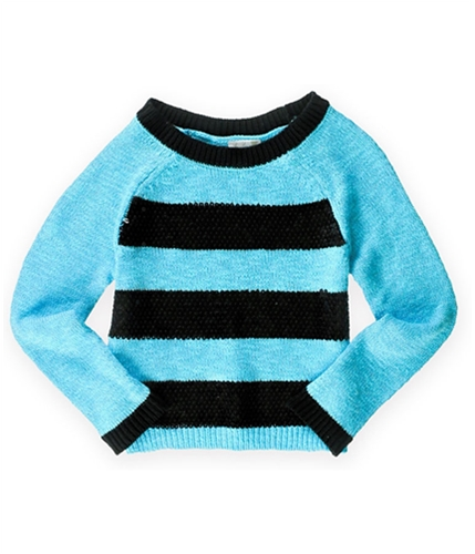 Justice Girls Striped Shimmer Knit Sweater 631 12