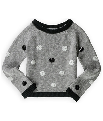 Justice Girls Polka Dot Sequin Knit Sweater 633 6