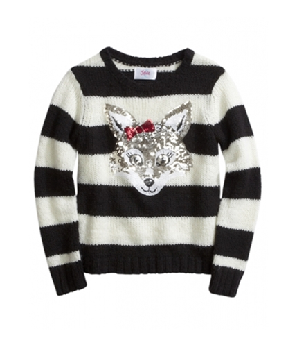 Justice Girls Striped Critter Knit Sweater 610 18 1/2