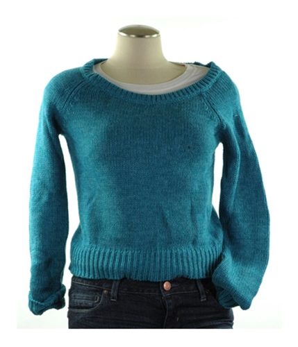 American Eagle Outfitters Womens Cotton Knit Sweater tealgreen XS
