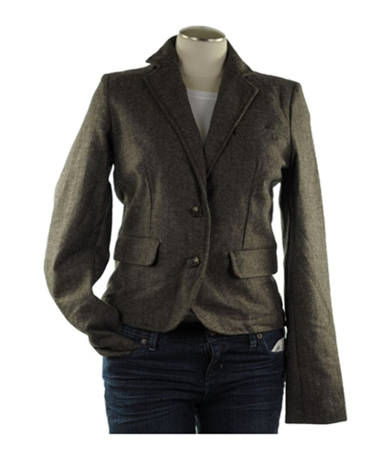 American Eagle Outfitters Womens Collared Tweed Two Button Blazer Jacket 200 S