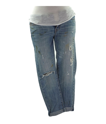 American Eagle Outfitters Womens Slim Slouchy Relaxed Fit Jeans light 00x30
