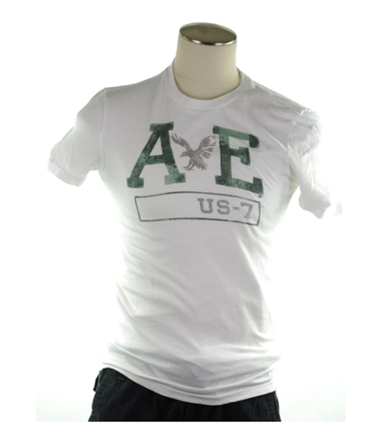 American Eagle Outfitters Mens Ae Us-7 Athletic Fit Graphic T-Shirt 100 XS