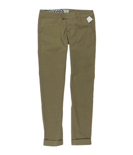 Volcom Womens Rolled Cuff Skinny Fashion Casual Trouser Pants