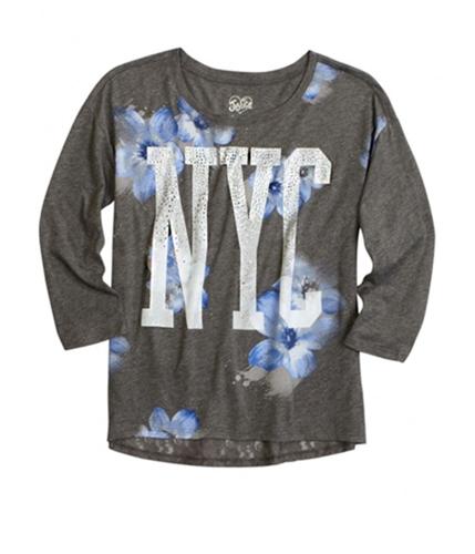 Justice Girls Floral NYC Embellished T-Shirt 608 6