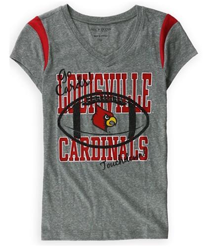 Justice Girls Lousiville Cardinals Graphic T-Shirt grayred 10