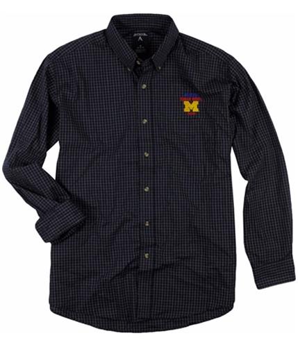 Antigua Mens Esteem Button Up Shirt 165navgrywhi M