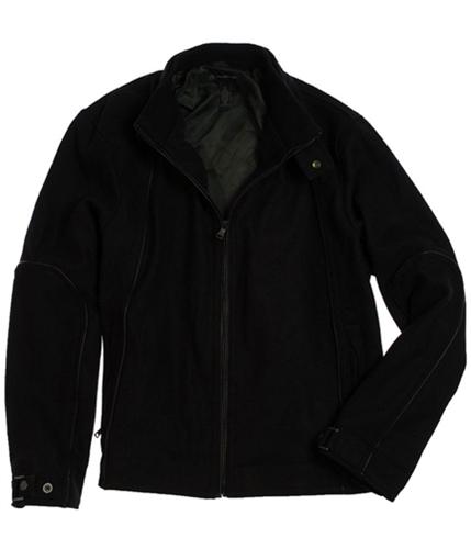 I-N-C Mens Wool Full Zip Field Jacket black XL