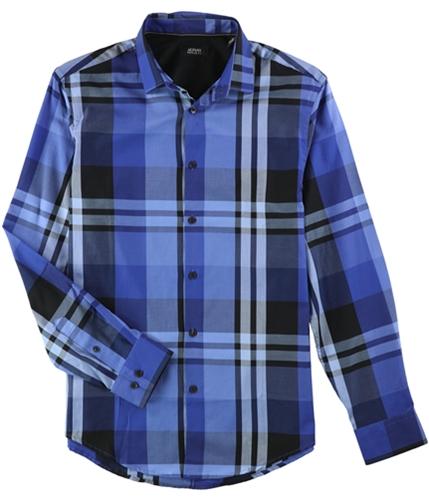 Alfani Mens Derby Plaid LS Button Up Shirt