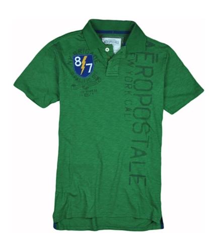 Aeropostale Mens 87 S. Pacific Div. Rugby Polo Shirt oreganogreen XS