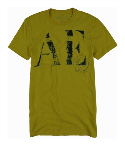 American Eagle Outfitters Mens Ae Vintage Fit Graphic T-Shirt yellowgold XS