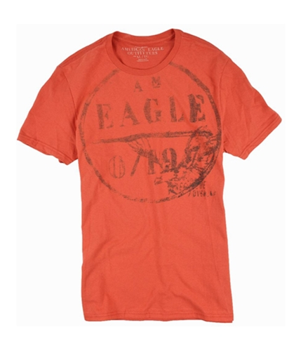 American Eagle Outfitters Mens Vintage Fit Crew Neck Graphic T-Shirt red XL