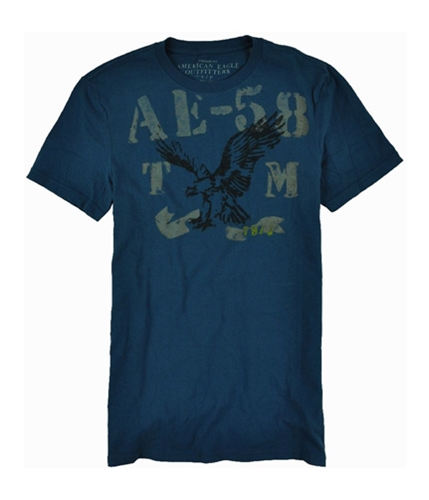 American Eagle Outfitters Mens Ae-58 Vintage Fit Graphic T-Shirt blue S