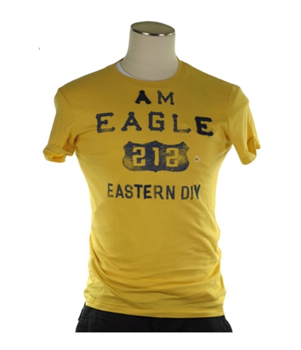 American Eagle Outfitters Mens 212 Graphic T-Shirt yellow XS