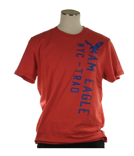 American Eagle Outfitters Mens Nyc Embroidered Graphic T-Shirt redorange XL