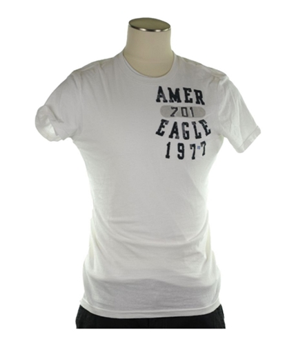 American Eagle Outfitters Mens 1977 Athletic Fit Graphic T-Shirt white XS