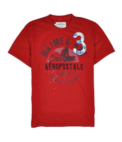 Aeropostale Mens Waimea Bay 3 Graphic T-Shirt redclay S