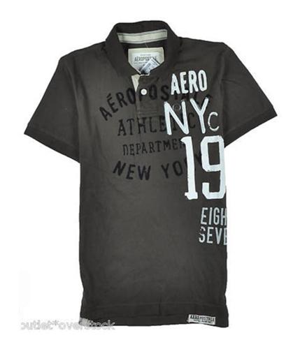 Aeropostale Mens Aero Nyc Rugby Polo Shirt burntsbrown XS