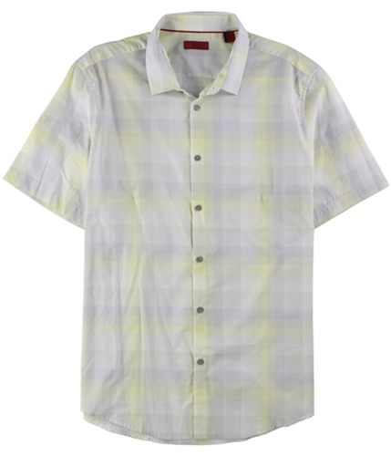 Alfani Mens Slim Fit Plaid Button Up Shirt