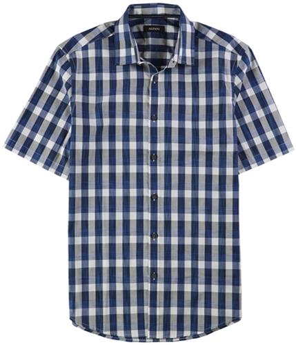 Alfani Mens Slim Fit Checked Button Up Shirt