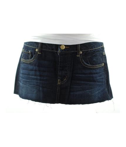 American Eagle Outfitters Womens Dark Denim Cutoff Mini Skirt 443 00
