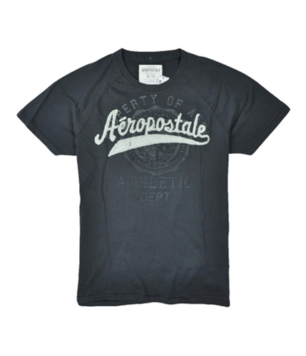 Aeropostale Mens Athletic Embroidered Graphic T-Shirt stormgray XL