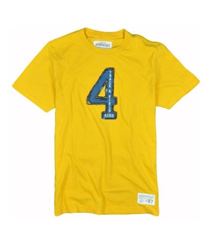 Aeropostale Mens Track & Field Graphic T-Shirt yellow XS