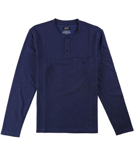 Alfani Mens Pique LS Henley Shirt