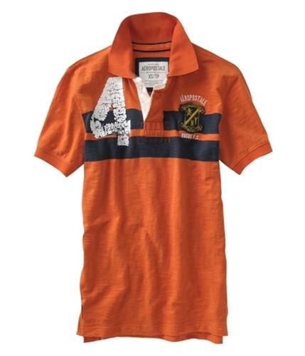 Aeropostale Mens F.c. 4 Rugby Polo Shirt brtorange XS