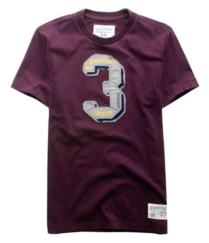 Aeropostale Mens Nyc 3 Graphic T-Shirt burgundyrichwine L