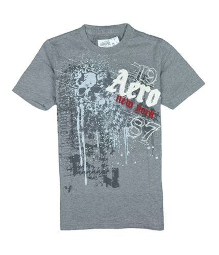 Aeropostale Mens Aero Skeleton Graphic T-Shirt mediumgray XS